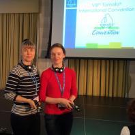 Марина и Елена Клименок на Томатис конвенции в Париже